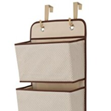 Delta Children 4 Pocket Hanging Wall Organizer, Beige
